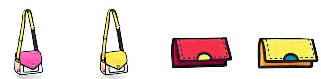 Bolso creativo Jumpfrompaper, efecto dibujo