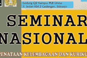 Seminar Penataan Lembaga & Kurikulum ABK dari Unesa