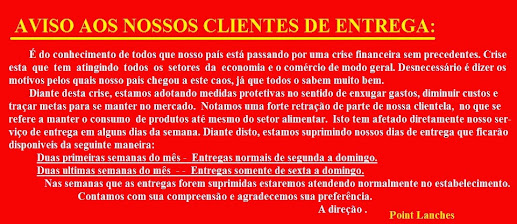 AVISO AOS CLIENTES