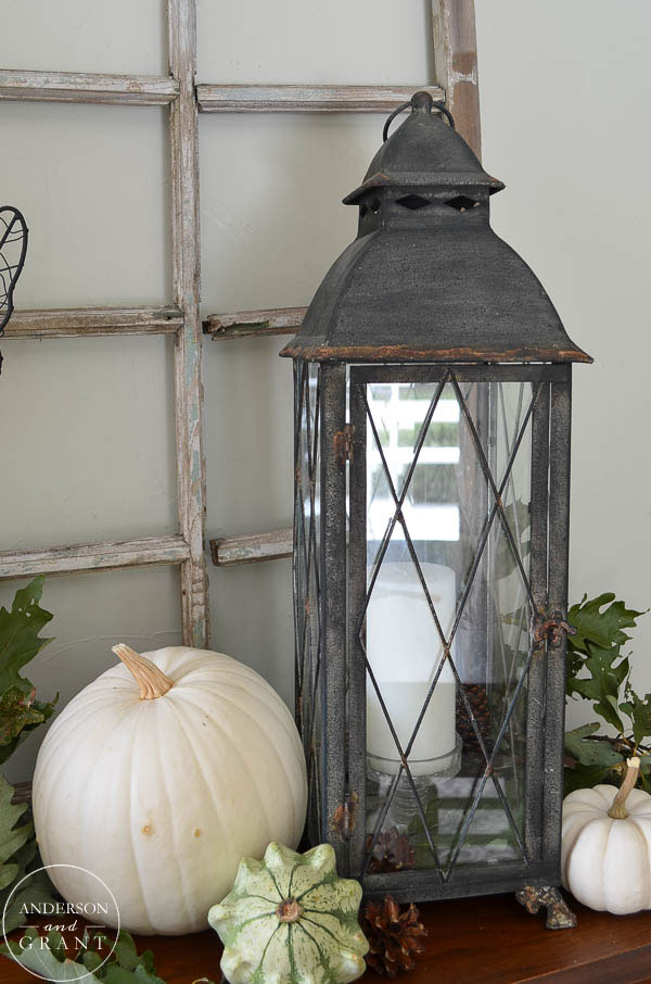 Lanterns are a great addition to any fall display.  |  www.andersonandgrant.com