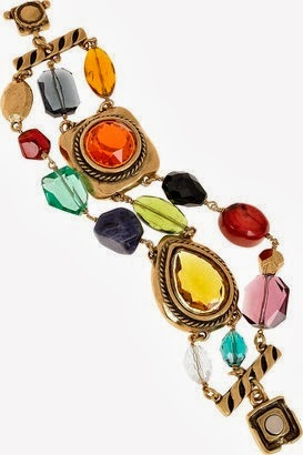 Gold-Plated Multi-Stone Bracelet