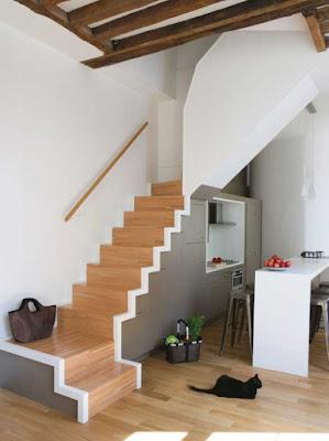 Cocinas bajo los escaleras decorando mejor for Escaleras cocinas pequenas