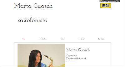 Directorio musical para blogs y webs musicales Página Personal - Artista Marta Guasch