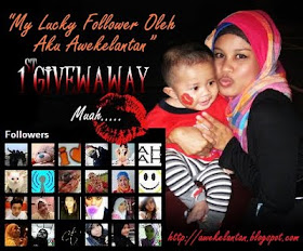 """My Lucky Follower Oleh Aku Awekelantan 1st GIVEAWAY"""
