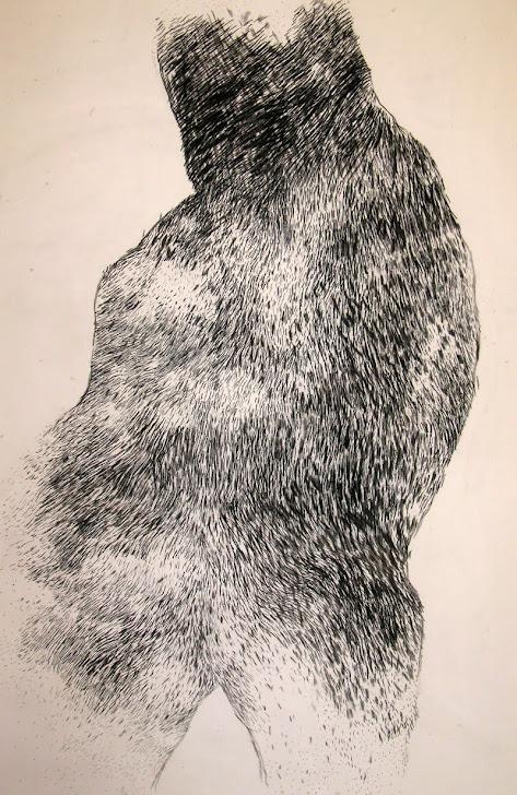 Fusain / toile 150 x 100 2011