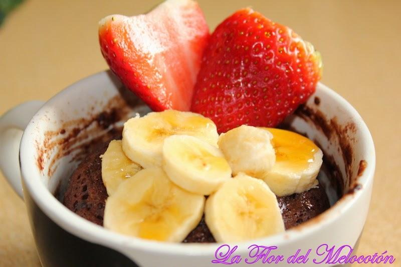 Mug cake de chocolate y plátano
