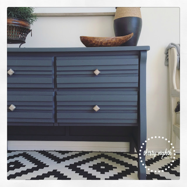 interesting and unique dressers, refinished furniture, painted furniture, chalky paint, relic, gray console, up cycling a dresser