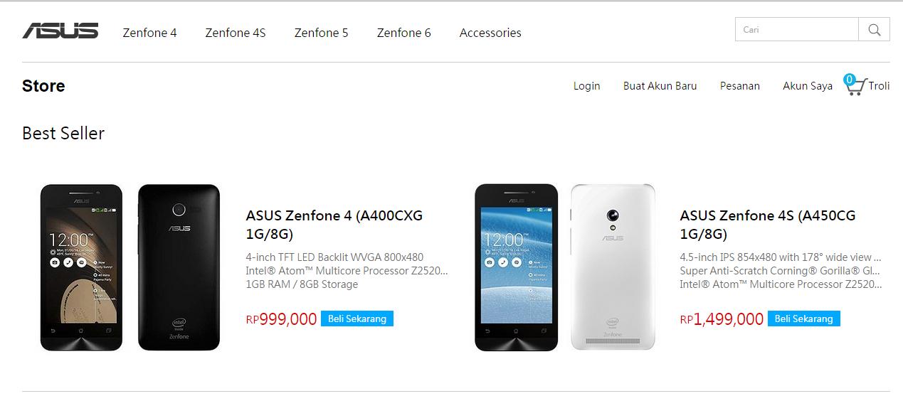 ASUS Store, Toko Online Resmi Asus Indonesia