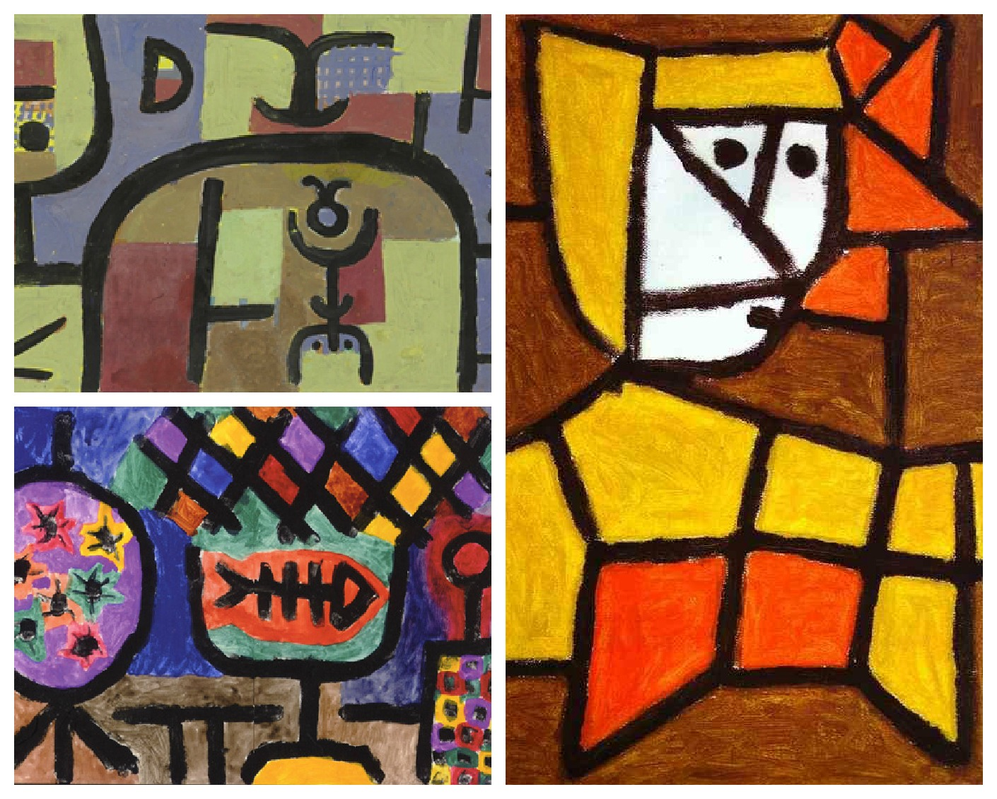Abstract Line And Colour Paintings Inspired By Paul Klee The