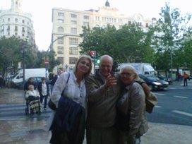 Sandra Partenio en Valencia con cliente de Convenio Bilateral