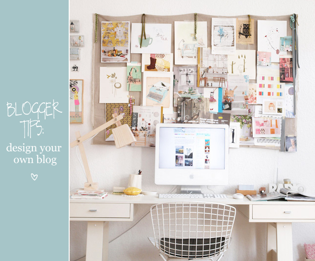 Tips to design your own blog with iMac on desk