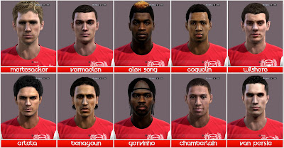 Preview PES 2012: Facepack Arsenal FC