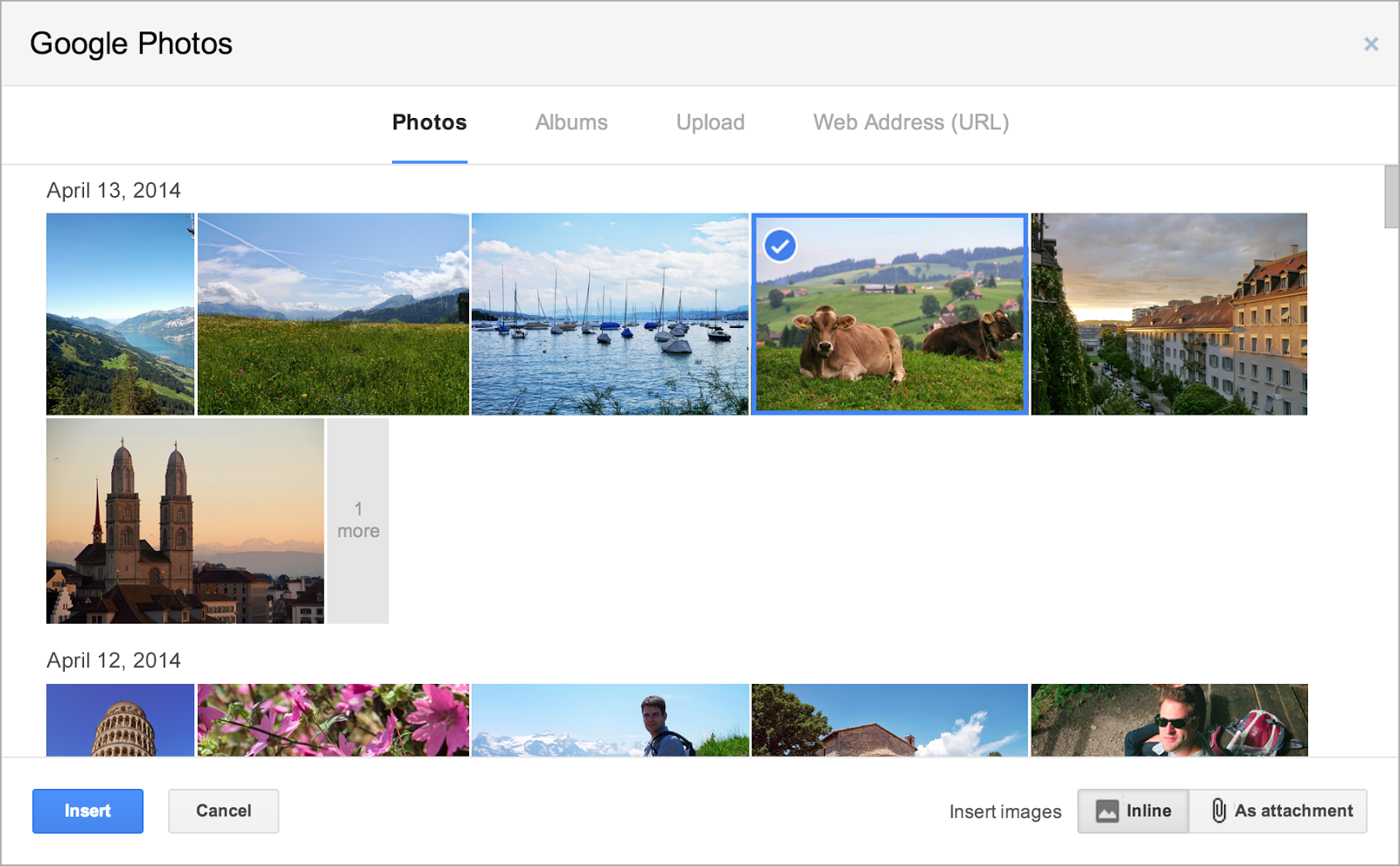 Send Photos through Gmail