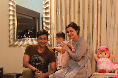Dashing Faysal Qureshi With Wife And Daughter