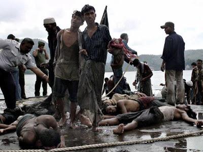 Bangsa Rohingya Dibunuh dgn Kejam oleh Pemerintah dan bangsa Buddha di sana