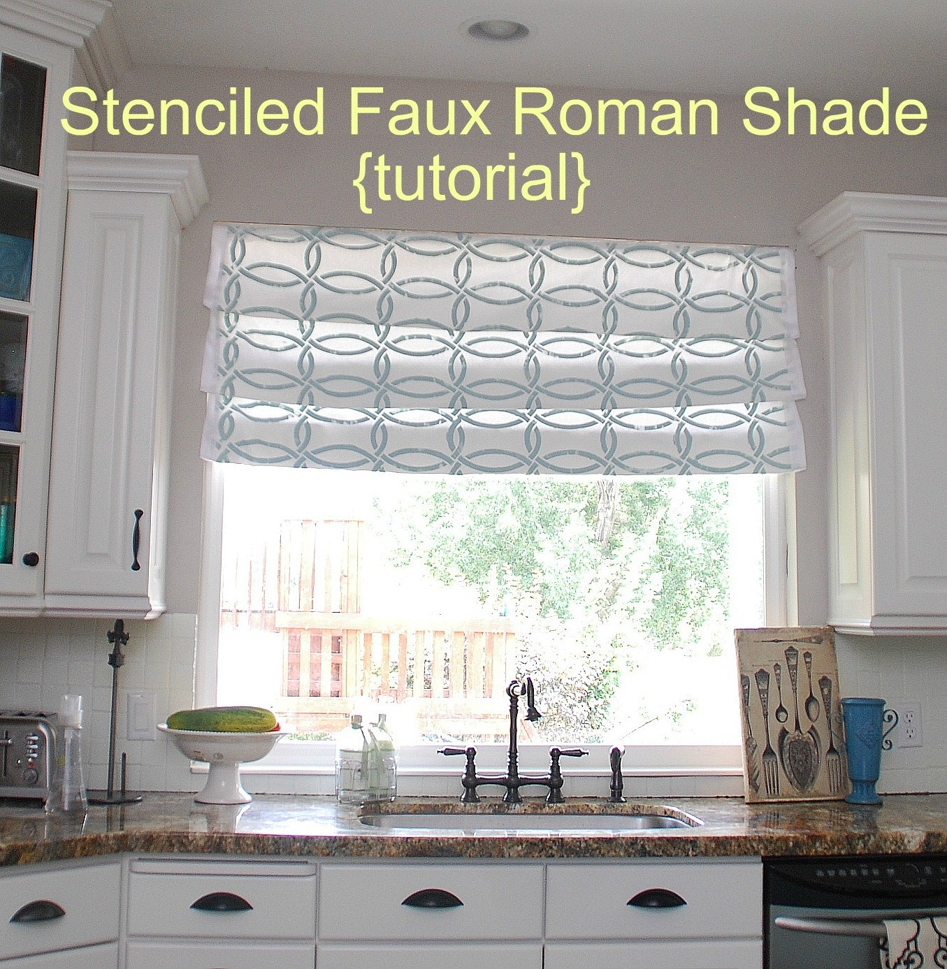 Iu0027m Still Working On My Kitchen Redo. I Decided I Wanted To Change Things  Up And Make A Roman Curtain For The Window Above My Kitchen Sink.