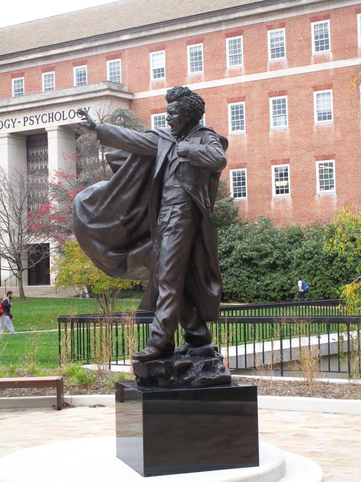 Frederick Douglass Statue UMD Arboretum a...