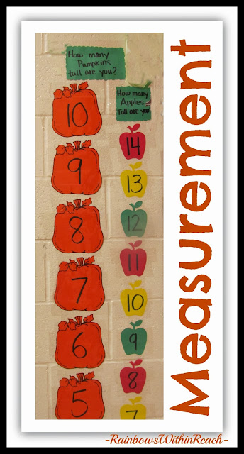Non-standard Measurement Chart for Kindergarten using Pumpkins and Apples via RainbowsWithinReach