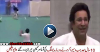 Great Wasim Akram bowling after 10 years