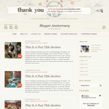 Blogger Anniversary template blogger. convert wordpress theme to blogger template.wordpress to blogspot template.