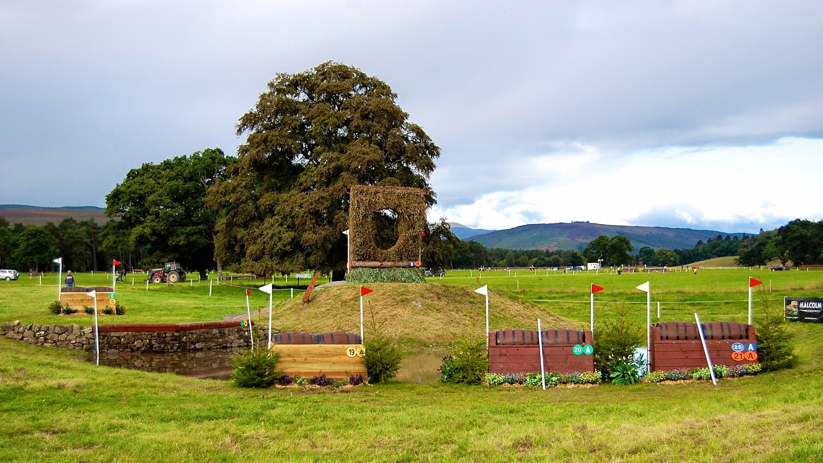 Keyhole jump at Blair Castle International Horse Trials
