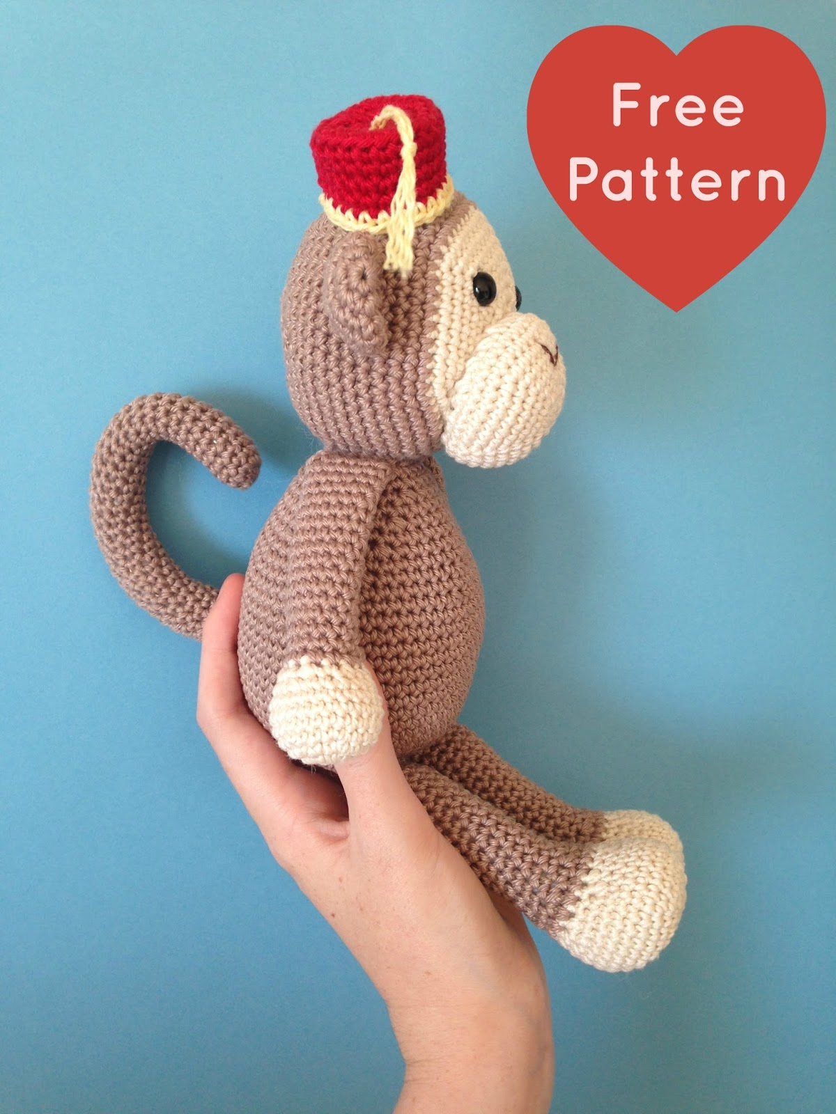 Heart sew cheeky little monkey free crochet amigurumi pattern cheeky little monkey free crochet amigurumi pattern bankloansurffo Choice Image
