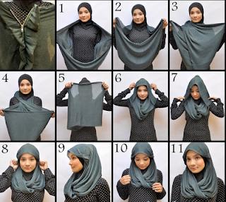 model jilbab pasmina yang simpel