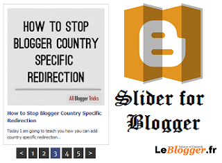 Les messages récents automatisés coulissants pour Blogger