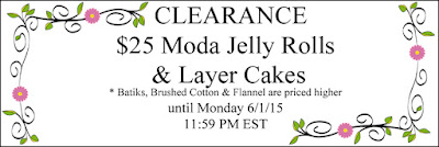 $25 Jelly Rolls & Layer Cakes