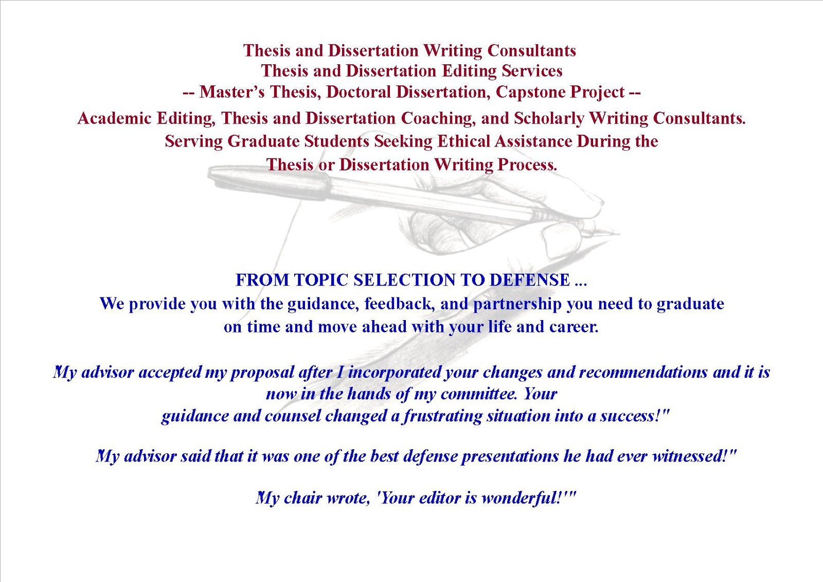 How we will proofread and edit your dissertation or thesis