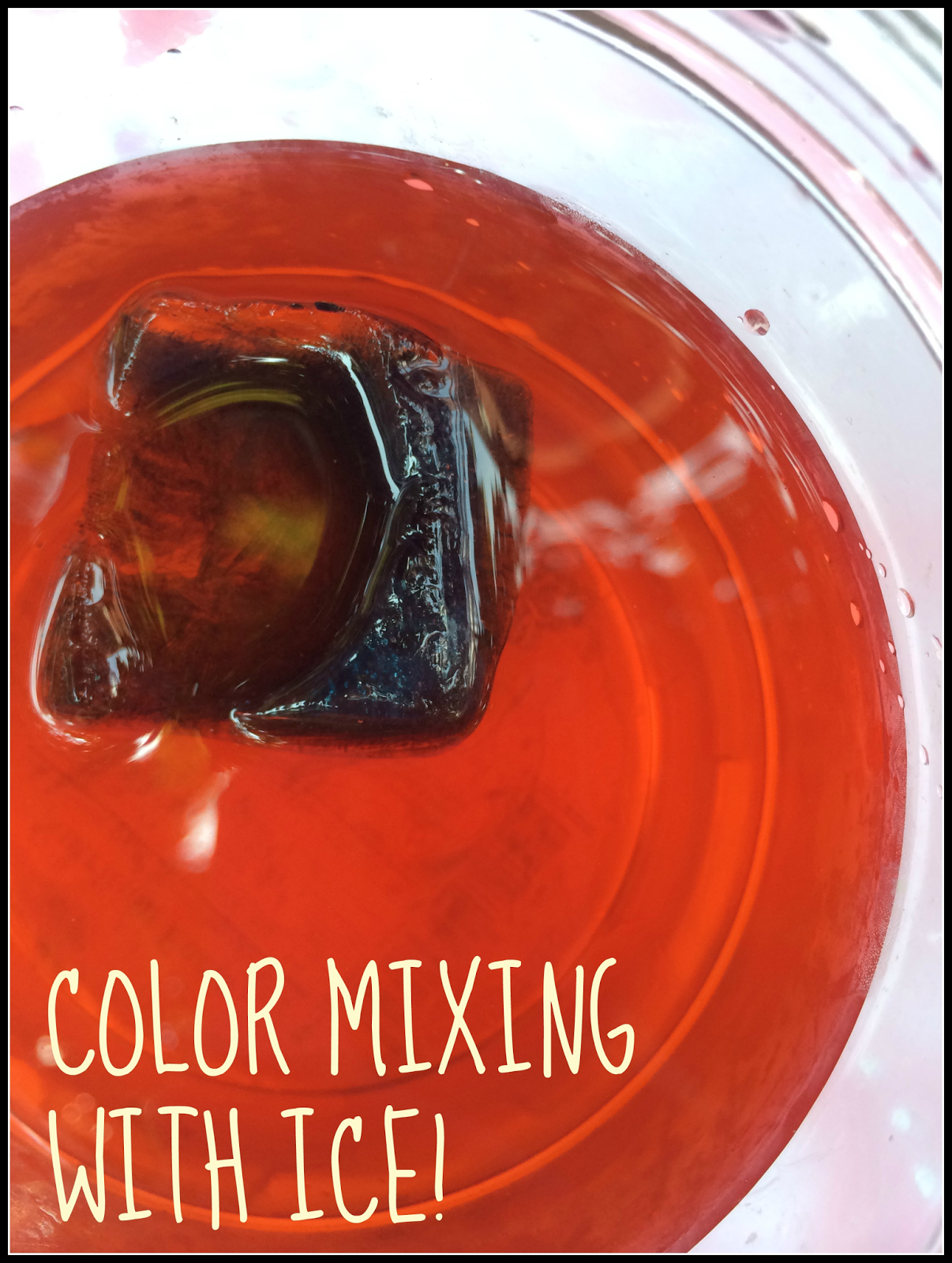 how to make frozen paint mixing