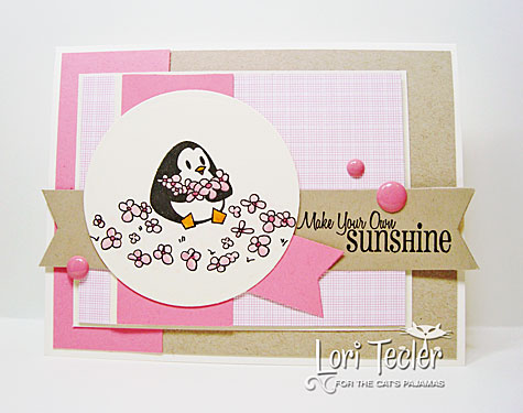 Make Your Own Sunshine card-designed by Lori Tecler/Inking Aloud-stamps from The Cat's Pajamas