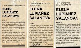Esquelas de Elena Lupiáñez publicadas entre 2005 y 2007