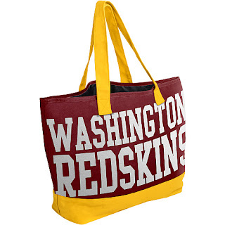 Team Beans Washington Redskins  NFL Metallic Print Tote Bag