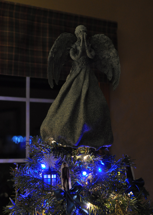 Doctor Who Christmas Tree Weeping Angel Topper!