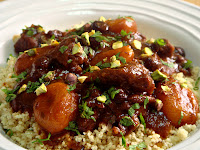 Beef Apricot Moroccan Tagine with Couscous