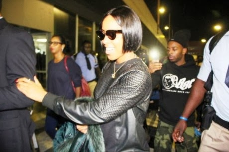Singer Kelly Rowland lands in Nigeria for concert
