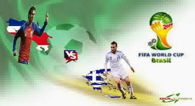 Prediksi Skor Pertandingan Babak Perdelapan Final Piala Dunia 29/06/2014 : Costa Rica Vs Yunani