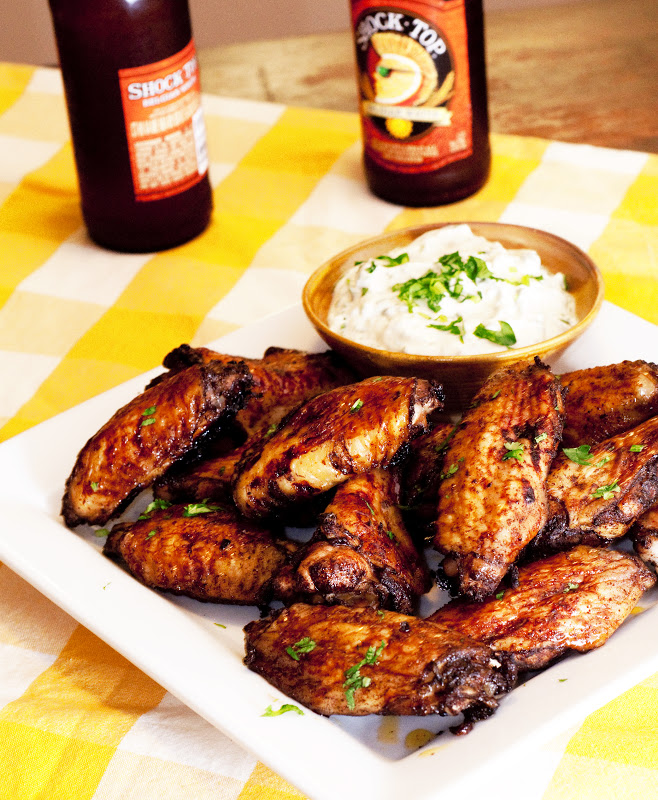 Honeyed 5-Spice Chicken Wings (with Creamy Cilantro Dip) ~ Save-ory ...