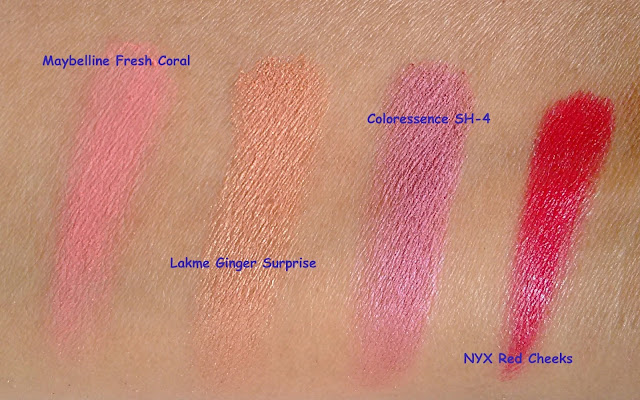Best Budget Blushes in India Review Swatch