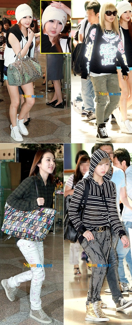 picture 2ne1 airport fashion daily k pop news