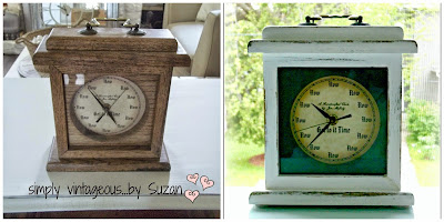 clock makeover to awesome vintage look redo