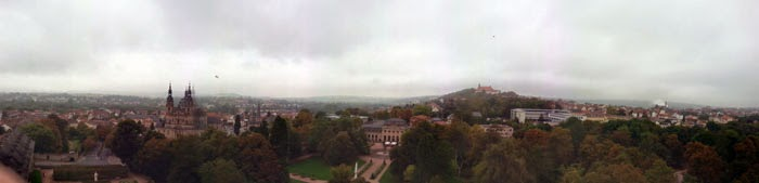 View from the tower of Fulda palace, Germany