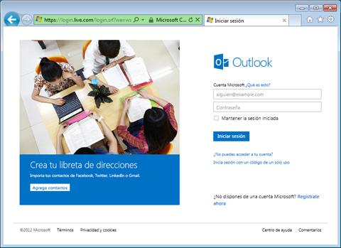 Como crear una cuenta de correo Outlook