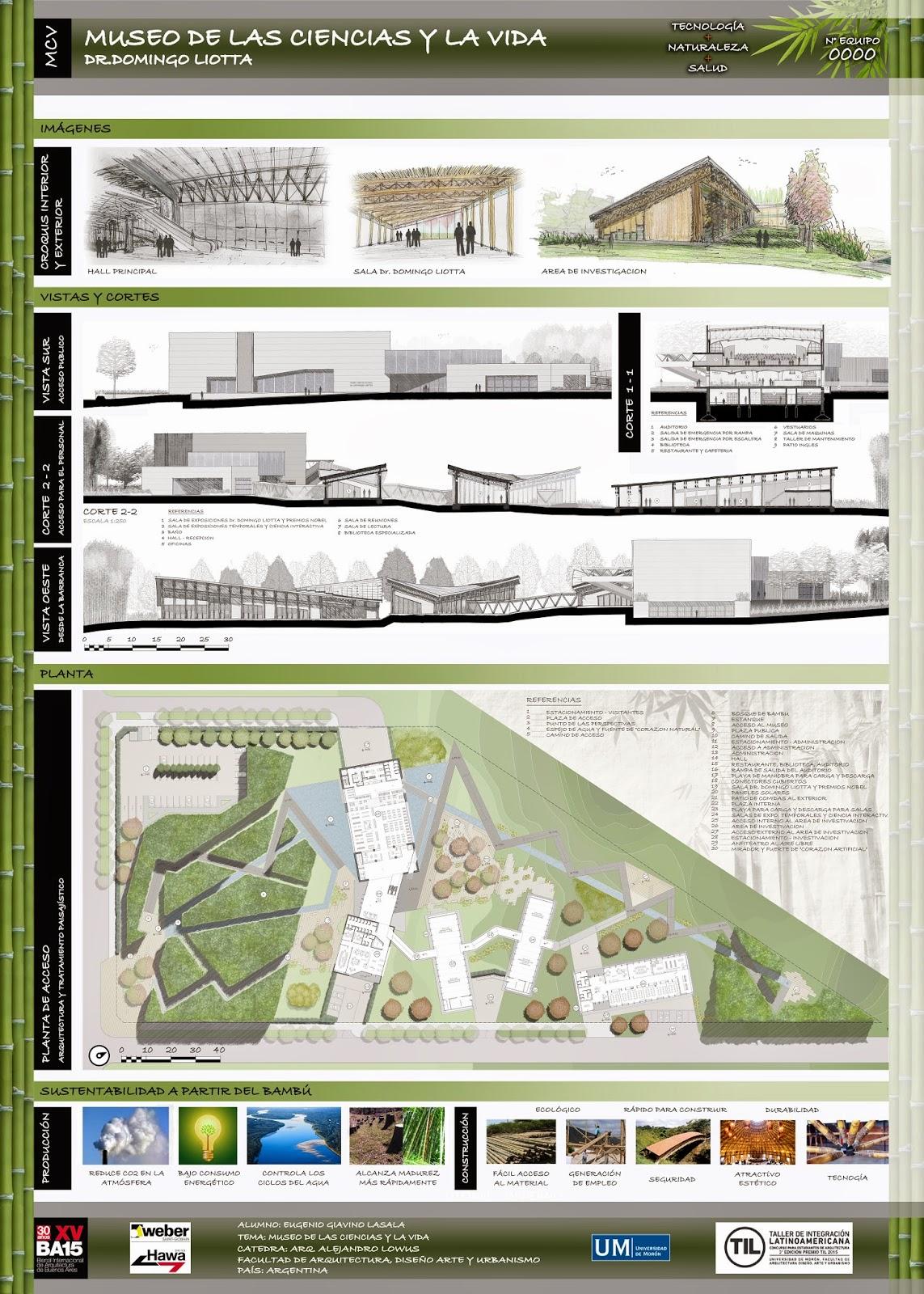 Eugenio giavino lasala laminas para el concurso premio for Laminas arquitectura