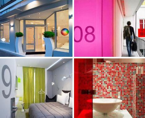 Urbanascidades hot is inusitados na fran a for Color design hotel