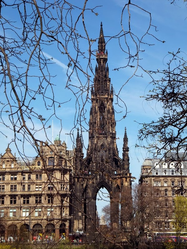 édimbourg edinburgh scotland écosse old town scott monument