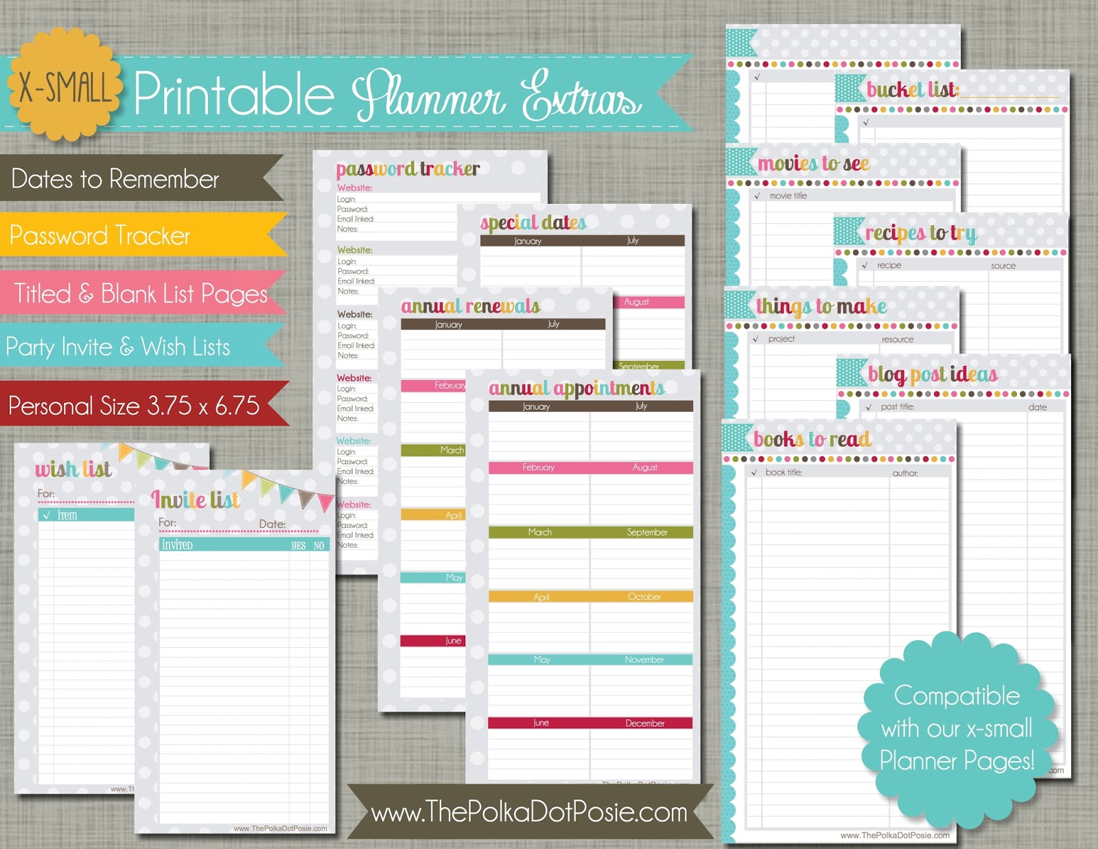 ... calendar pages, we also have some adorable printable calendar stickers