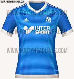 jual online dandetail photo kamera Gambar jersey Olympique Marseille third terbaru musim depan 2015/2016