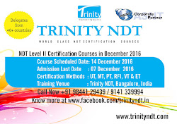 NDT Level II Certification Courses - December 2016